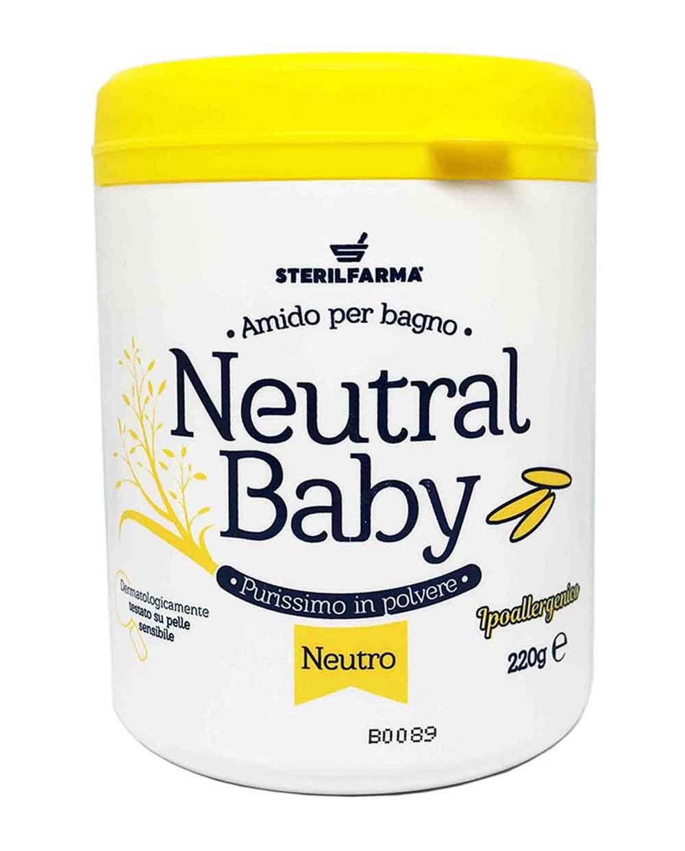 Neutal Baby neutralaus kvapo ryžių milteliai voniai