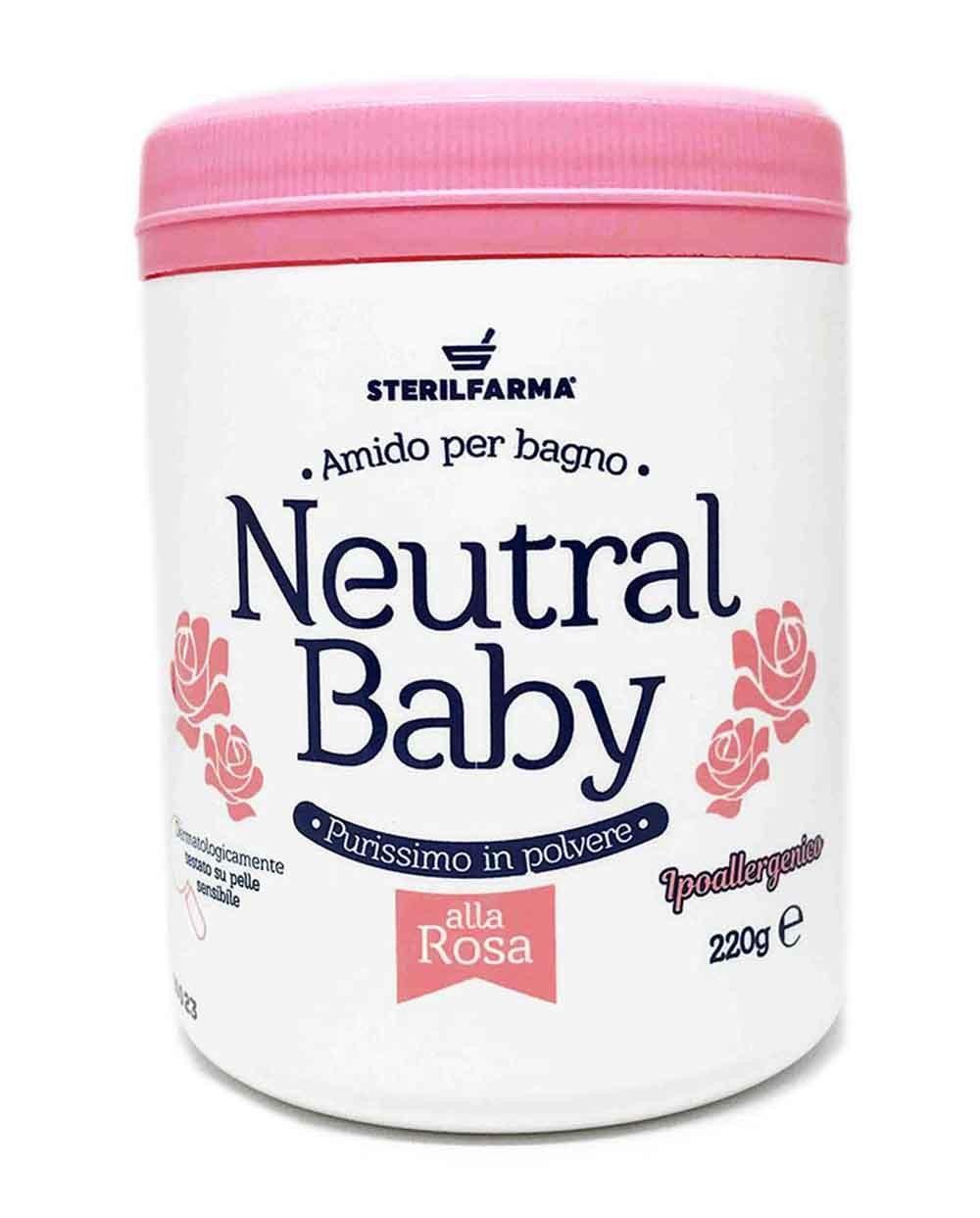 Neutral Baby Rose Scented Bath Powder Siciliana.lt