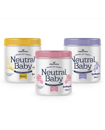 Neutral Baby rožių kvapo ryžių milteliai voniai, 220 g Siciliana.lt