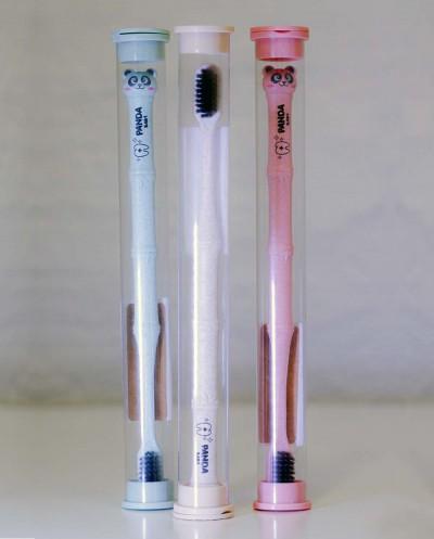 Children's Toothbrush PANDA (pink) Siciliana.lt