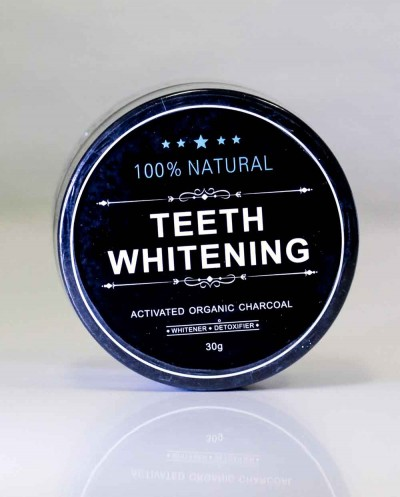Natural Teeth Whitening Activated Organic Charcoal Powder, 30 g Siciliana.lt