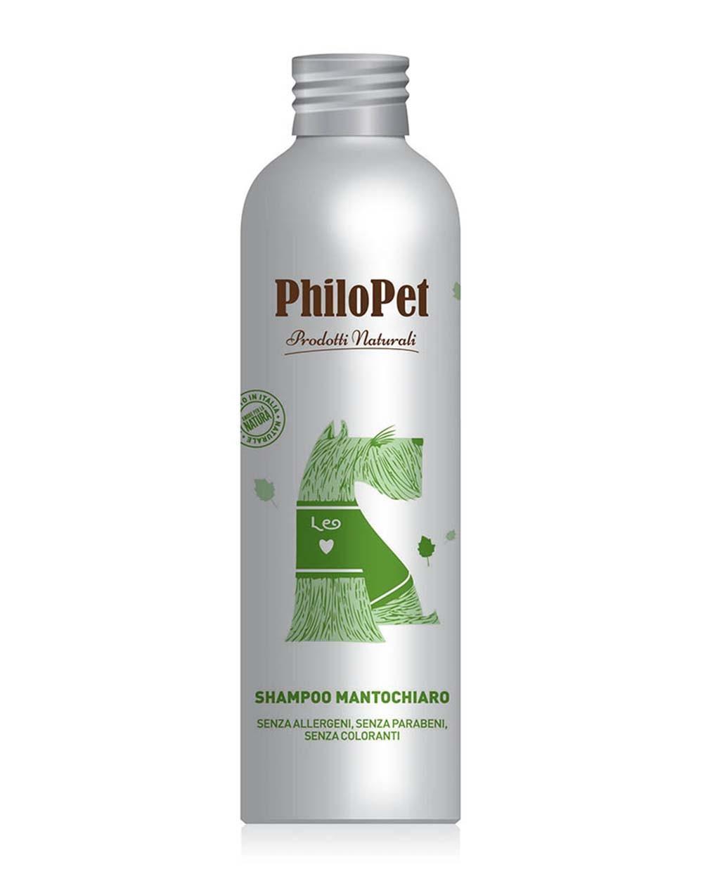 PHILOPET šviesaus kailio šampūnas šunims